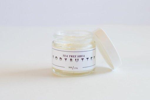 creamy handmade tea tree body butter lovely texas skincare