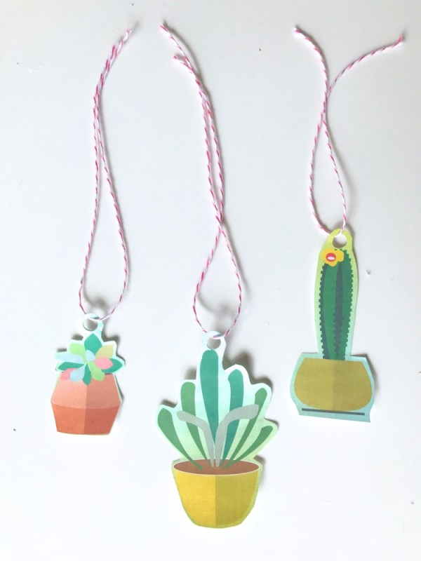 terrarium gift tag printables