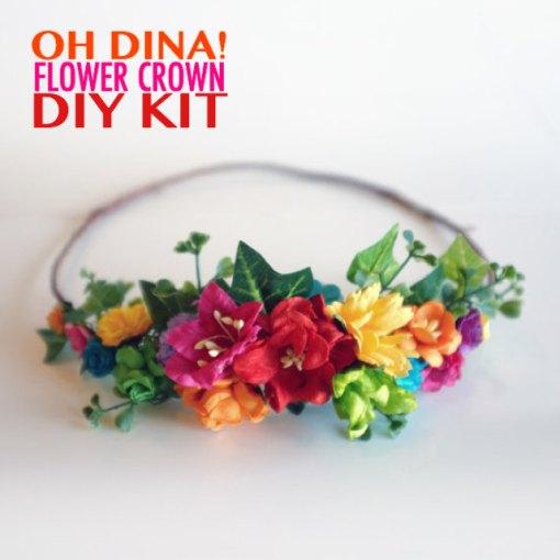 diy rainbow flower crown kit pop shop america