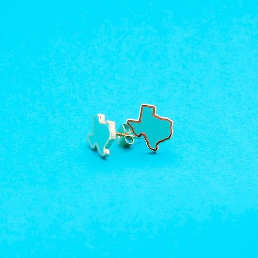 turqoise texas stud earrings 22k gold jewelry
