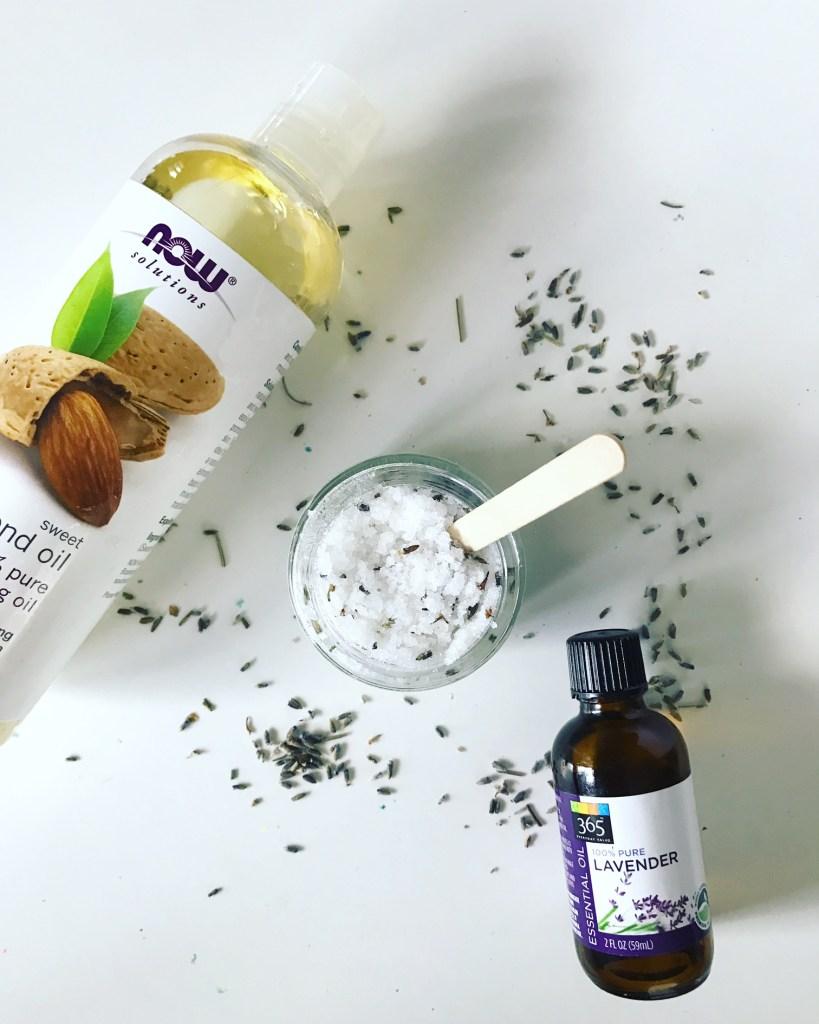 supplies to make lavender sugar scrub