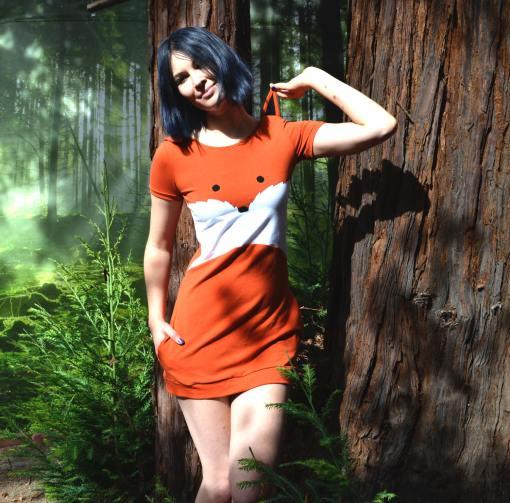 fashion photo of handmade fox dress pop shop america