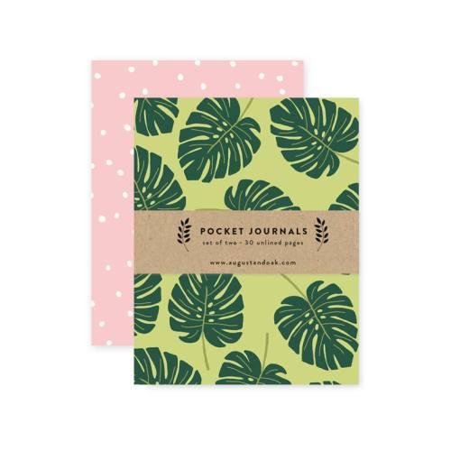 monstera leaf notebooks journal pop shop america