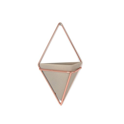 triangle copper and concrete planter hanging planters