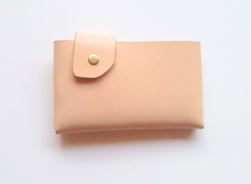 tan leather folding wallet handmade accessories