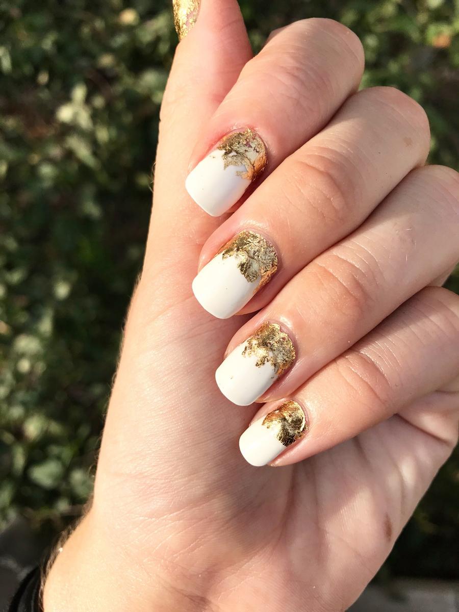 Gold Leaf Nail Design Topsimages