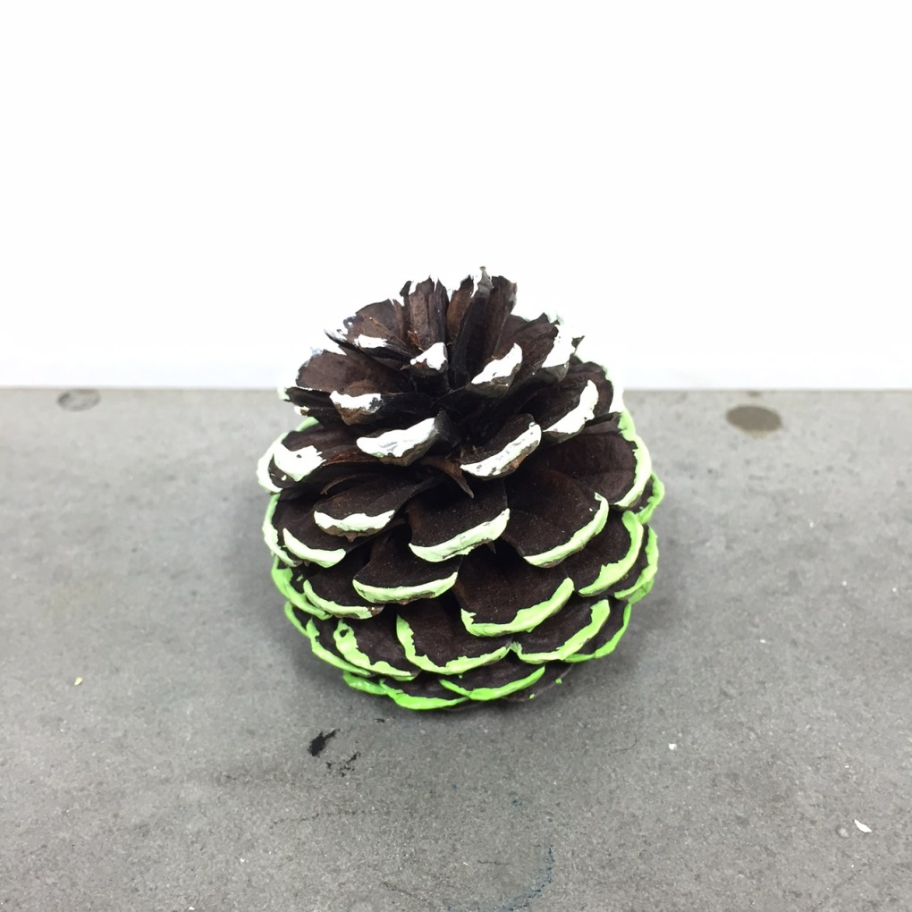 ombre painted pine cone made at pop shop america