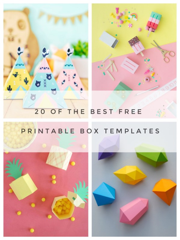 20 of the best free printable box templates