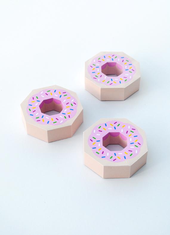 donut-printable box template