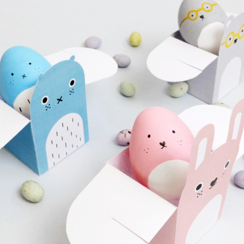 pastel animal boxes diy box templates pop shop america