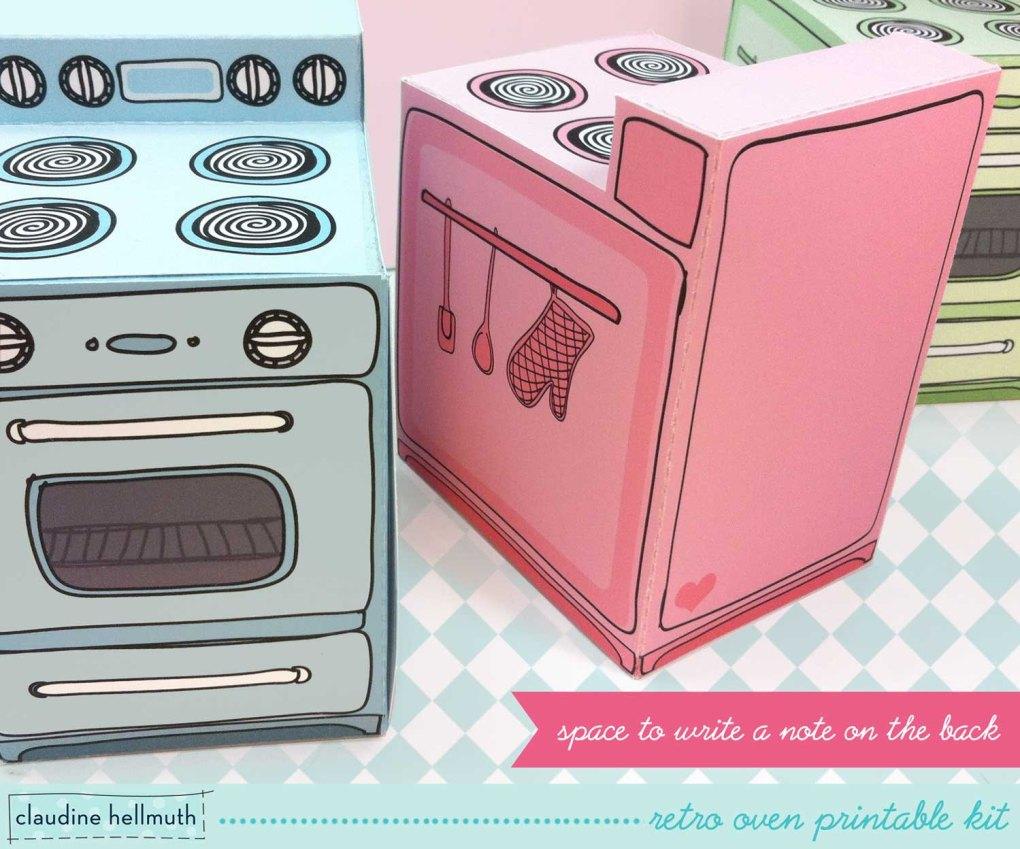 retro oven treat box template