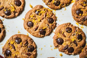 Orange Zest, Pecan & Carob Chip Cookies Recipe