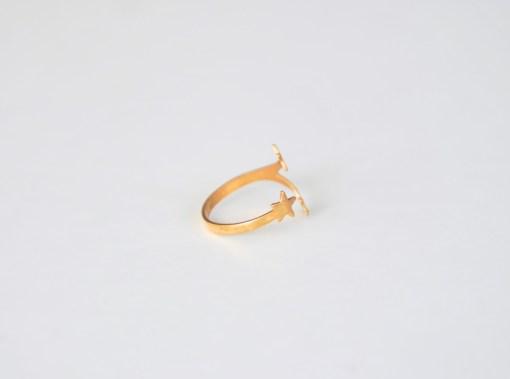 brass star ring modern handmade jewelry pop shop america