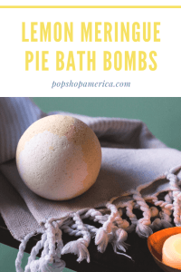 Lemon meringue pie bath bombs diy pop shop america