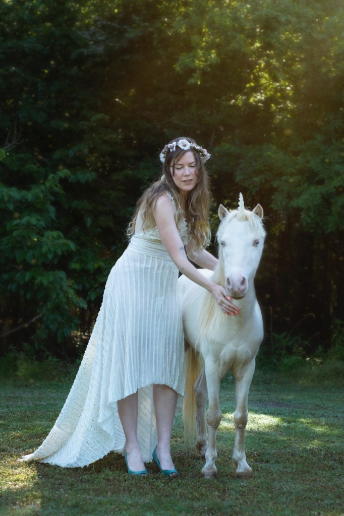 petting a unicorn brittany bly unicorn photographs