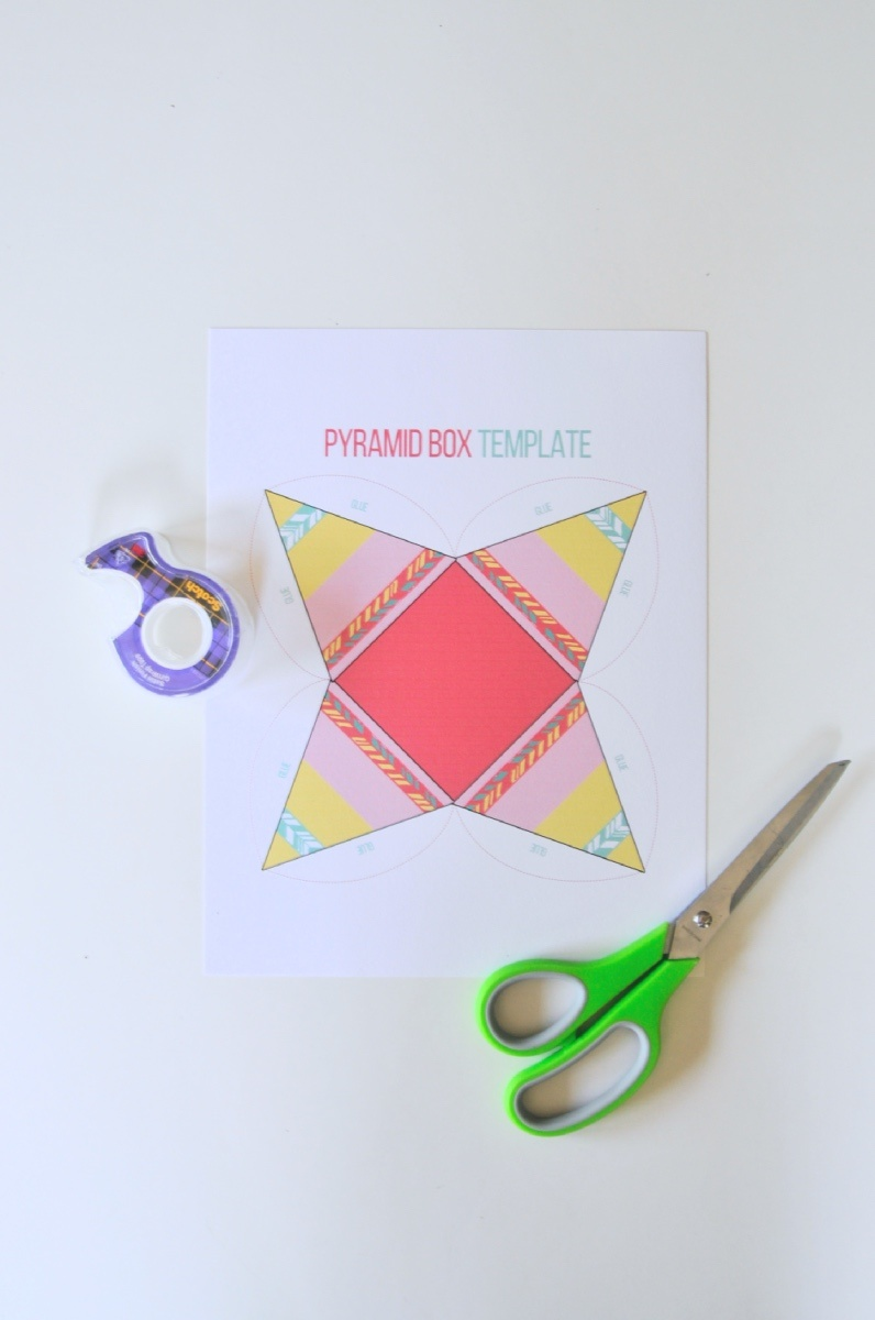 Then You Must Download And Print These Adorable Teepee Pyramid Treat Boxes This Box Template Was Created By Us Is Totally Free To
