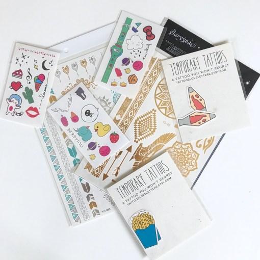 mixed temporary tattoos grab bag pop shop america