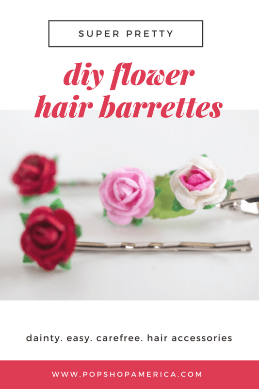 Teeny tiny diy flower barrettes teeny tiny diy paper flower hair barrettes feature mightylinksfo