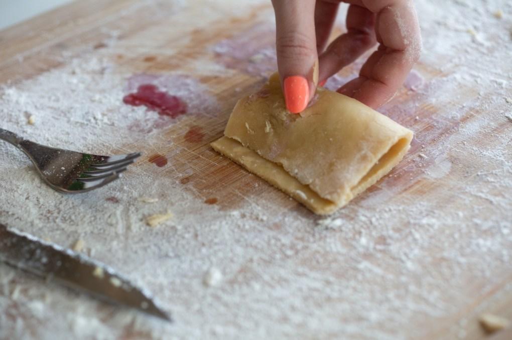 fold the crust to make cherry pies pop shop america