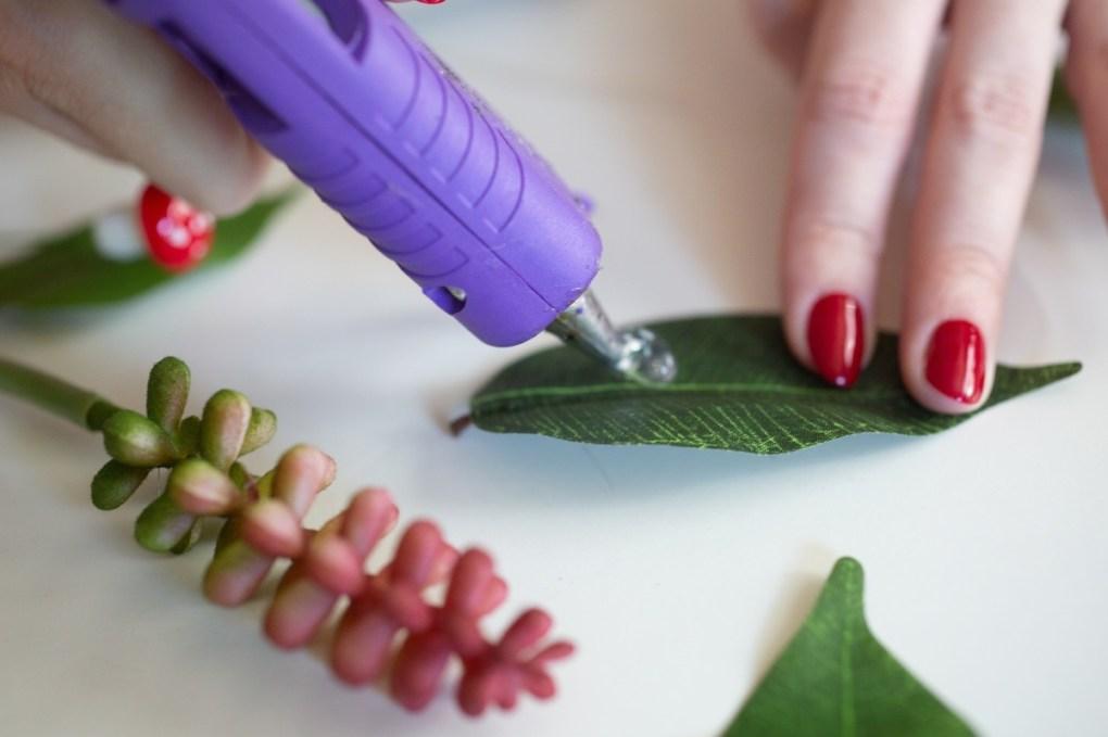 add a touch of glue - faux plant diy tutorial pop shop america
