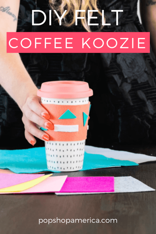 diy felt coffee sleeve pop shop america