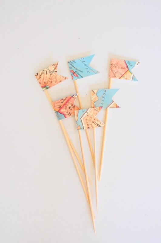 drink stirrers with maps pop shop america diy