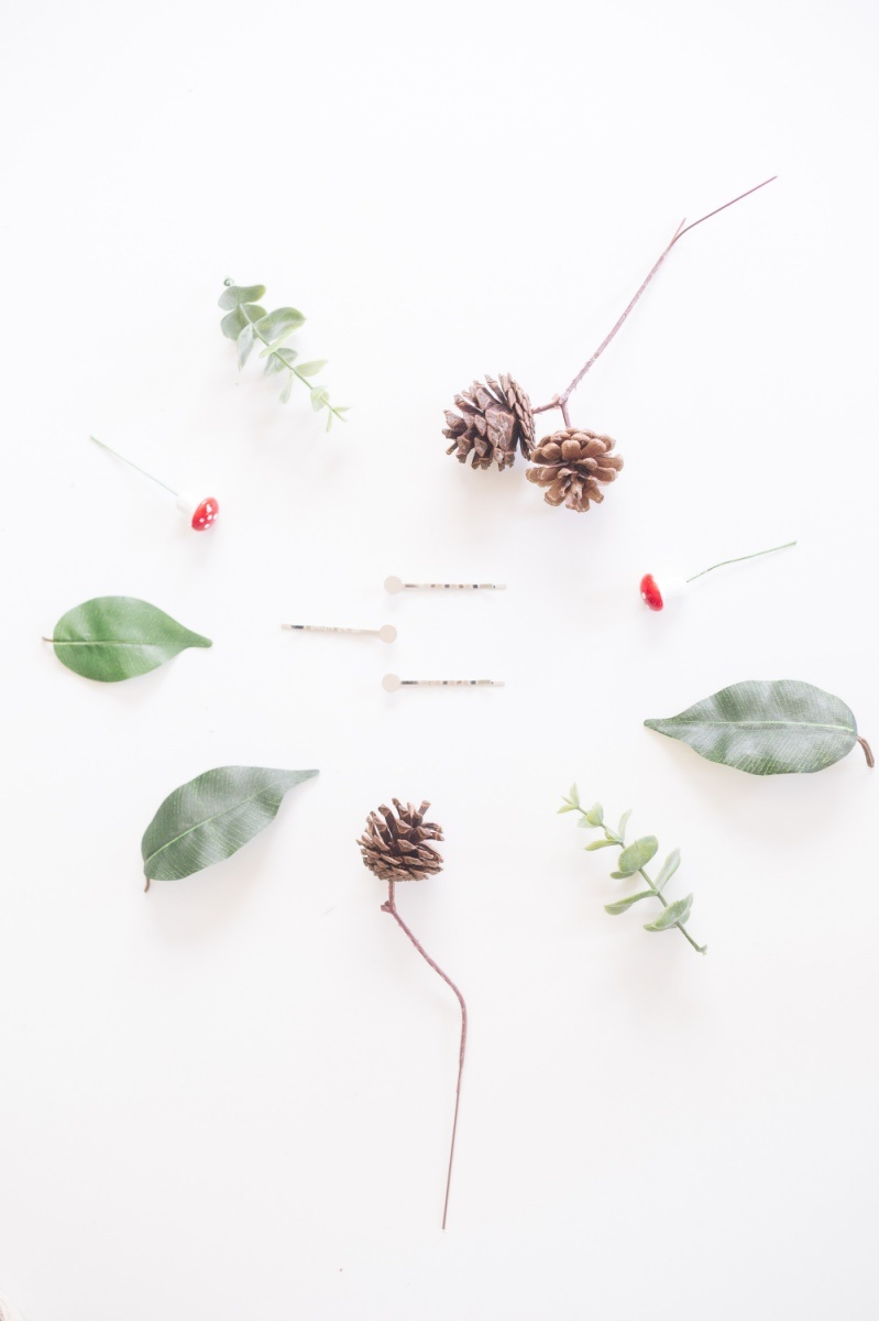 supplies to make a fairy garden hair barrette