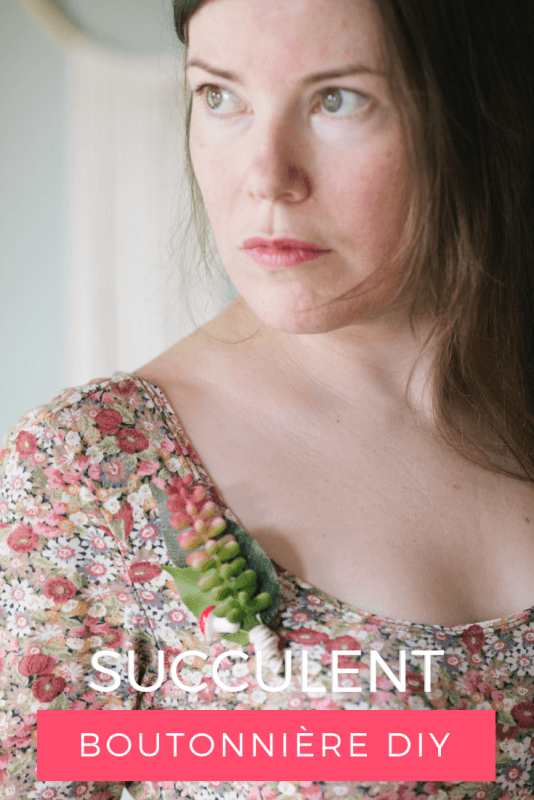 tutorial to make succulent boutonniere final