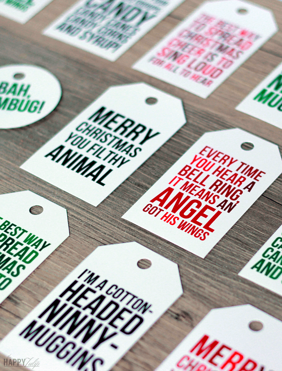 Printable Christmas Gift Tags [Funny Christmas Movie Quotes] │ thehappytulip