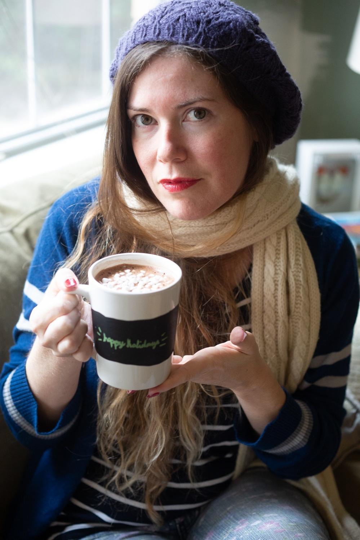 brittany with chalkboard mug set hot chocolate