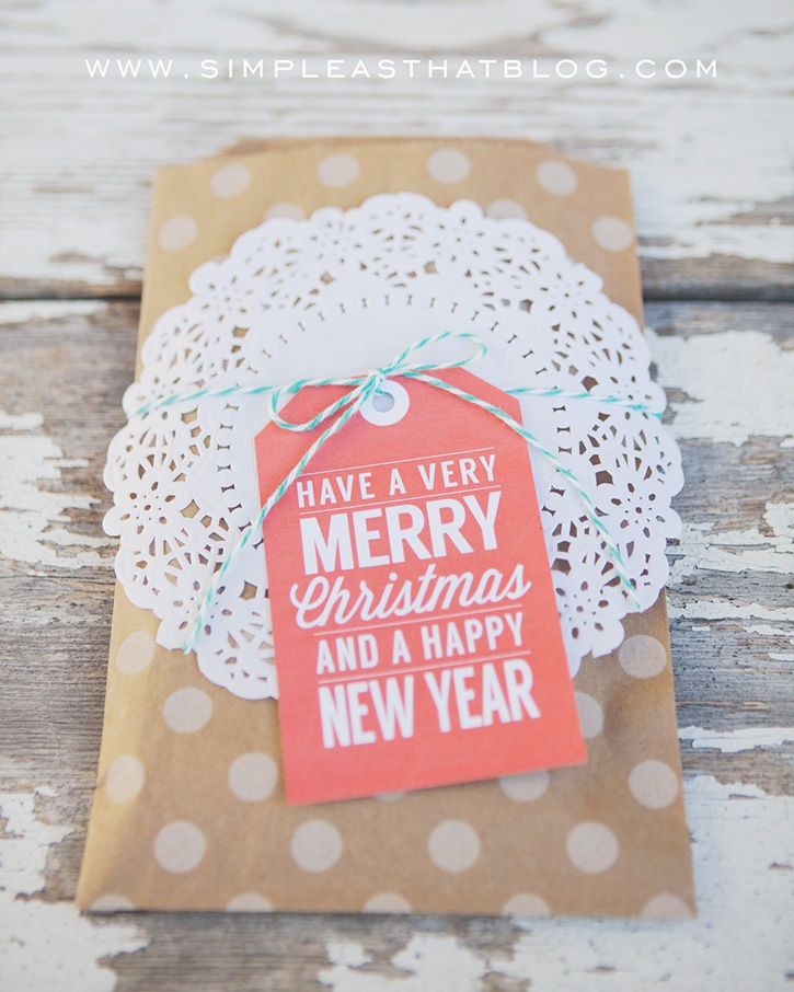 retro red holiday printable gift tags