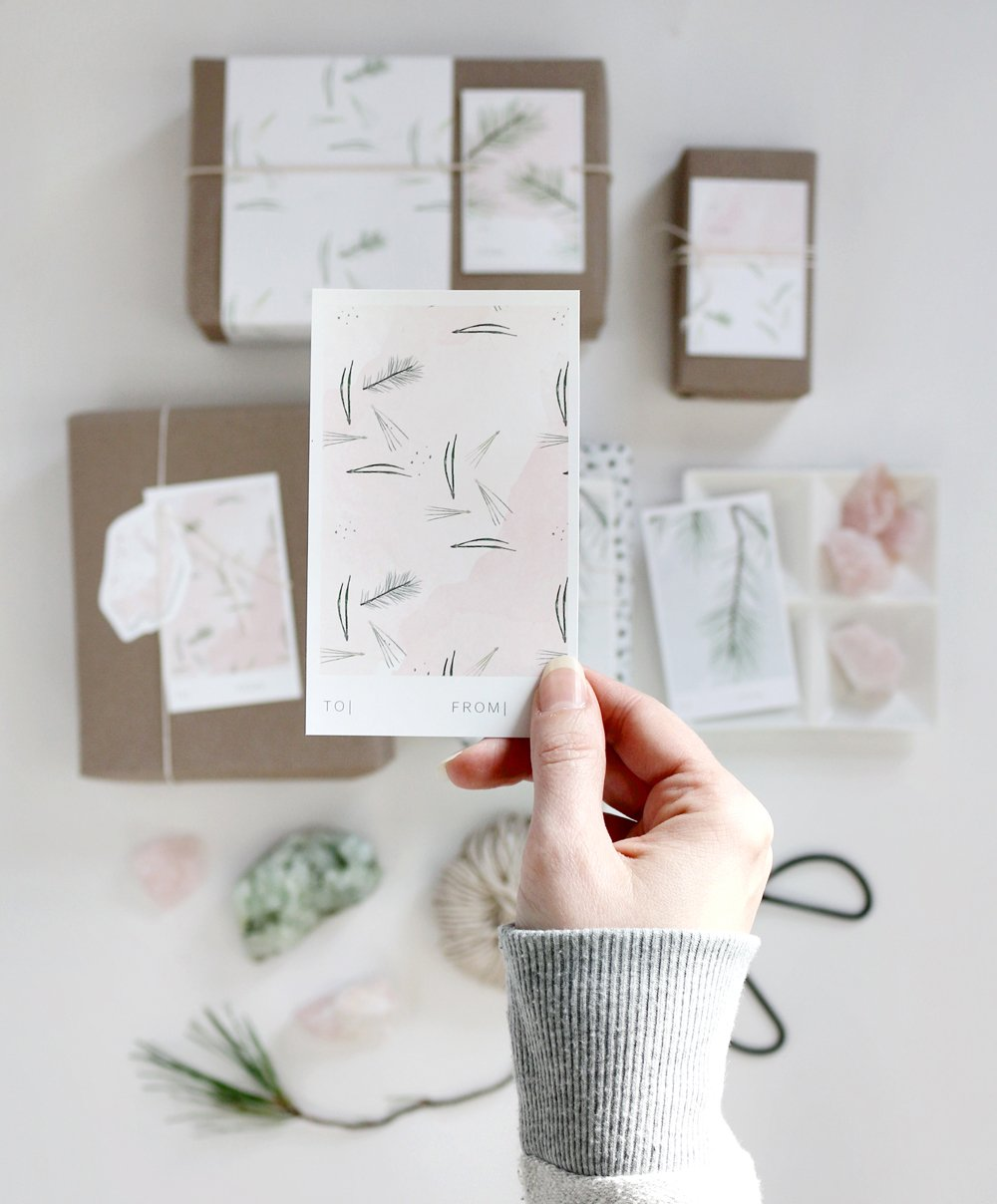 wintery fresh holiday gift tags by vol25