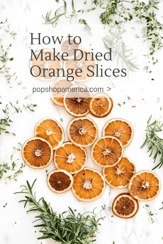 how to make dried orange slices pop shop america