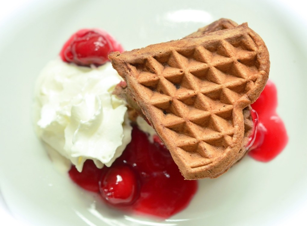 how to make homemade cherry cheesecake waffles pop shop america