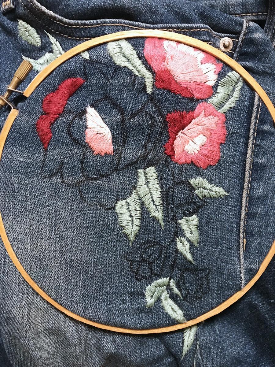DIY Embroidered Denim