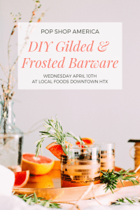 diy gilded and frosted barware pop shop america