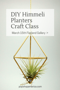 diy himmeli planters craft class pop shop america art classes houston