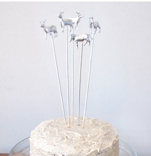 silver party cake toppers diy pop shop america