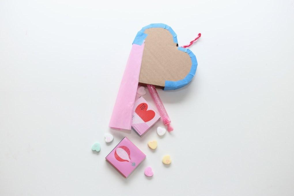stuff the mini heart pinata with treats pop shop america