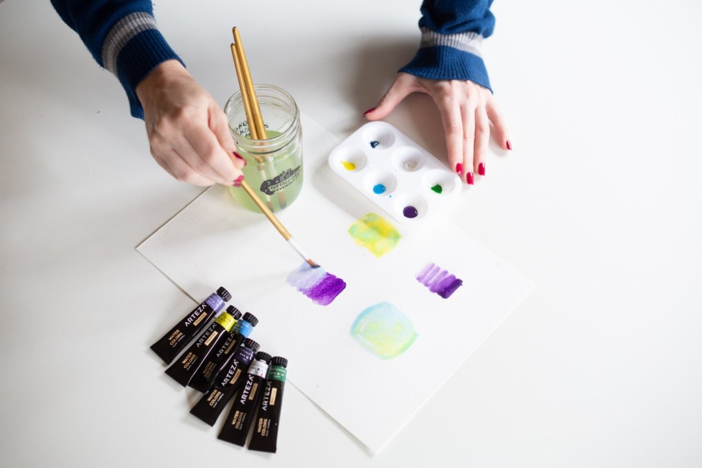 how to blend two colors of watercolor painting tutorial pop shop america