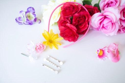 supplies to make a frida kahlo inspired flower crown diy pop shop america