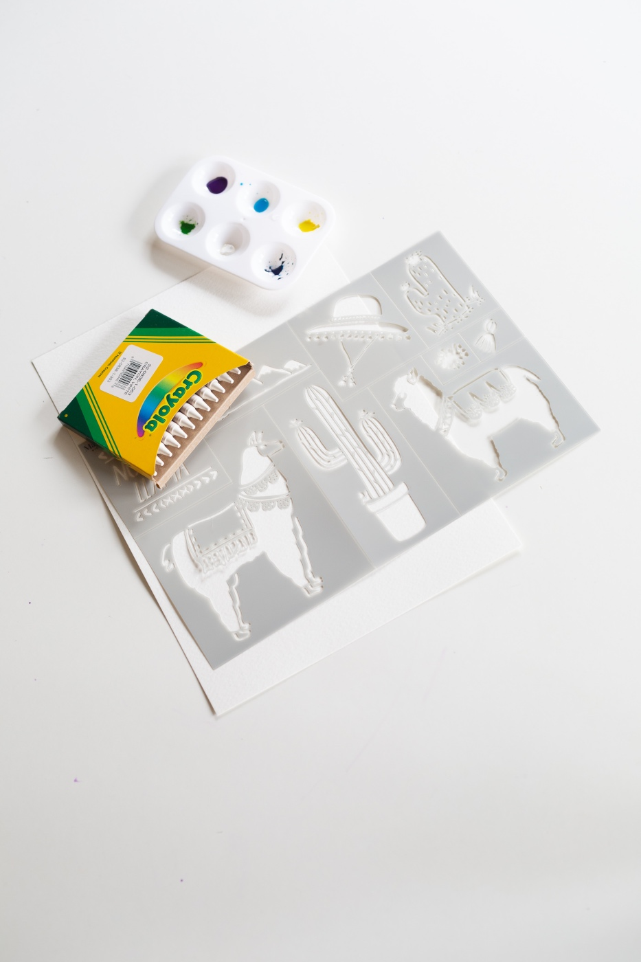 supplies to make a watercolor wax resist painting pop shop america