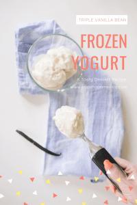 triple vanilla bean frozen yogurt pop shop america