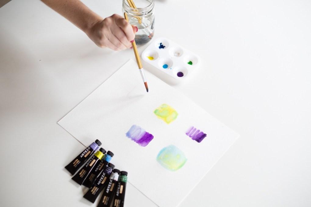 wet brush watercolor painting techniques pop shop america
