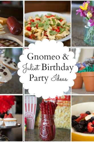 """A """"Gnomeo and Juliet"""" Themed Birthday Party"""