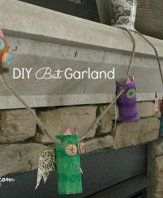 DIY Halloween Bat Garland