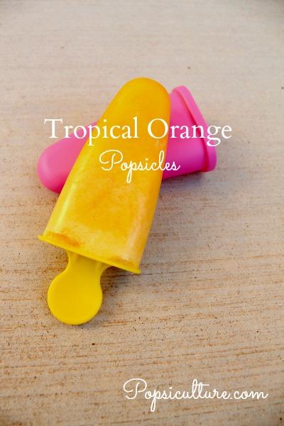 Tropical Orange Popsicles
