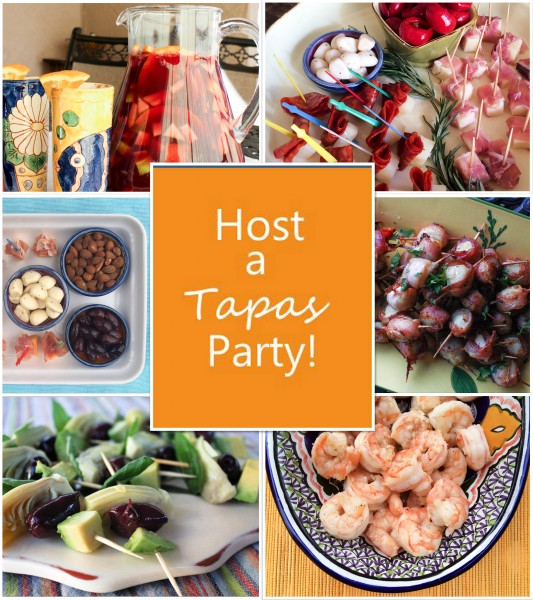 Tapas Party Collage