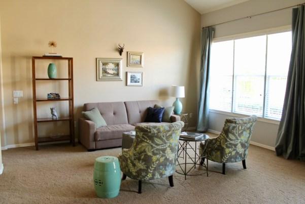 Arizona Spanish Turret Living Room
