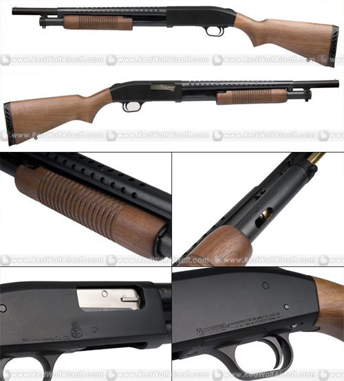 Marushin Mossberg M500 Wooden Stock Popular Airsoft